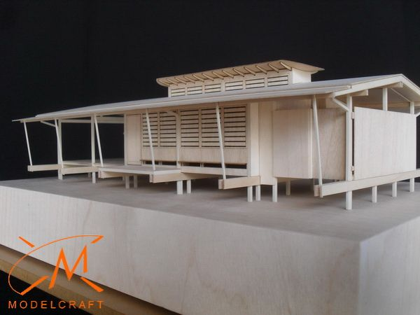 Tropical house for Chris Cole Architect - Timber Architectural Model by Modelcraft (NSW) Pty Ltd - 14015