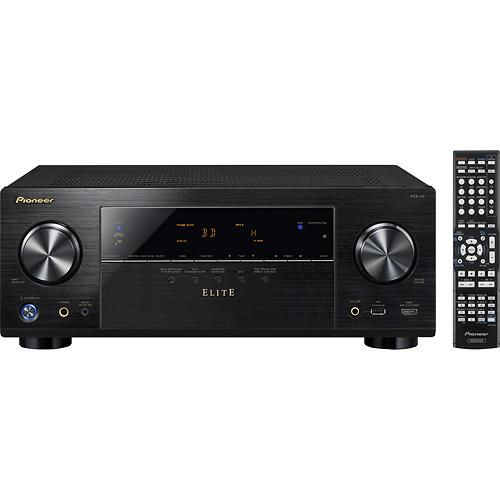 Pioneer Elite - 560W 7.1-Ch. Network-Ready 4K Ultra HD and 3D Pass-Through A/V Home Theater Receiver Model: VSX-43 SKU: 8202043