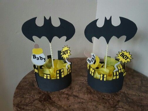 Centro de mesa batman baby shower