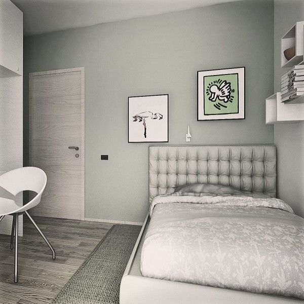 Progettazione su misura di una camera da letto perché i bambini. La particolarità é la scrivania realizzata di misura. Uno stile maturo per i grandi del futuro.