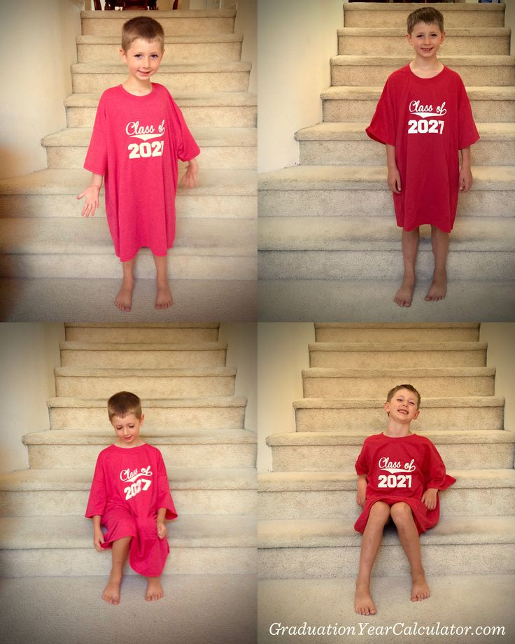 Back-to-school photos with our graduation year t-shirt #backtoschool #school #kids