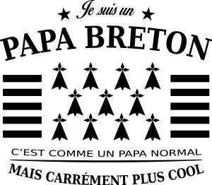personnaliser tee shirt papa breton