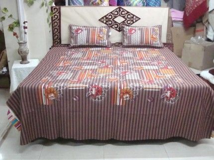 Adishma Bed Sheet With 2 Pillow Covers  Sho here : http://www.adishma.com/adishma-bed-sheet-with-2-pillow-covers-424.html?utm_content=buffere46b1&utm_medium=social&utm_source=pinterest.com&utm_campaign=buffer Rs.2500/- only #Homeneed #Bedsheet