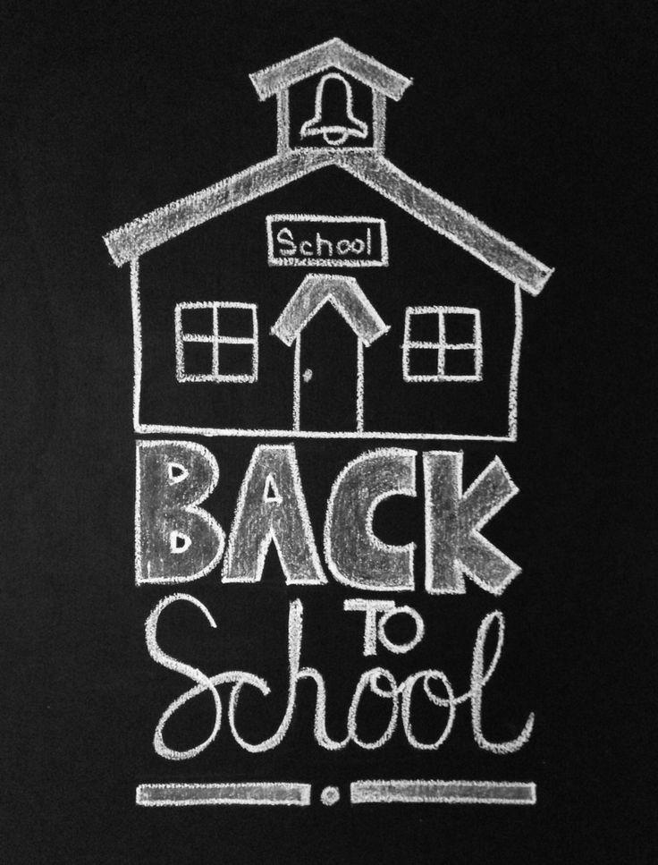 Back to school chalk-art