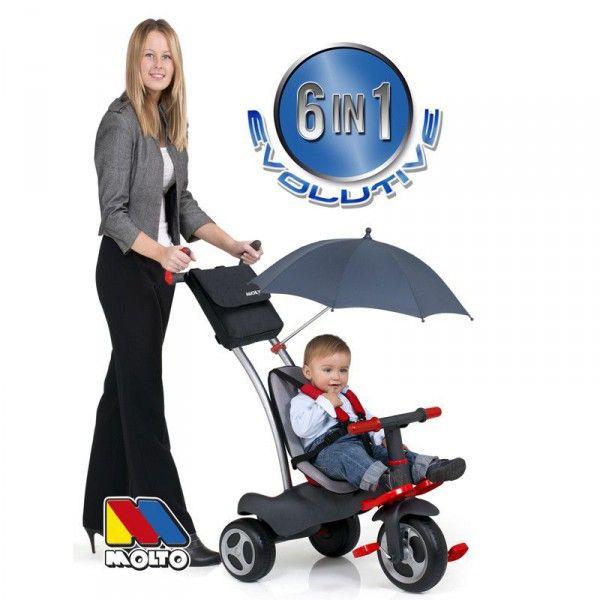 Triciclo evolutivo 6 en 1 completo Molto [Playkids-MOLT12211] | 82,09€ : La tienda online para tu peke | tienda bebe pekebuba.com