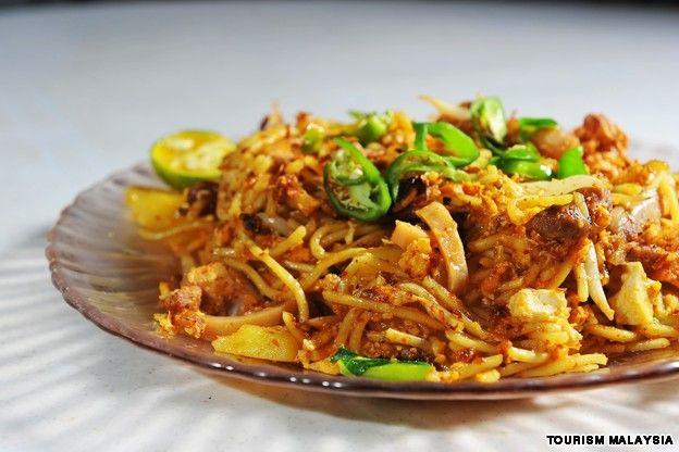 Malaysian food mee goreng