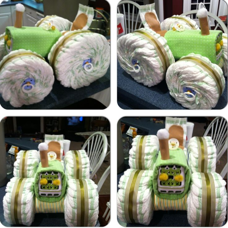 Saw it on Pinterest, made it for a friends camo/country baby shower, added the pacifiers in the wheels for extra cuteness, just needs the teddy bear in the seat