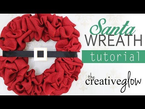 Tutorial to make this simple and cute belted Santa Wreath. EASY! #christmas