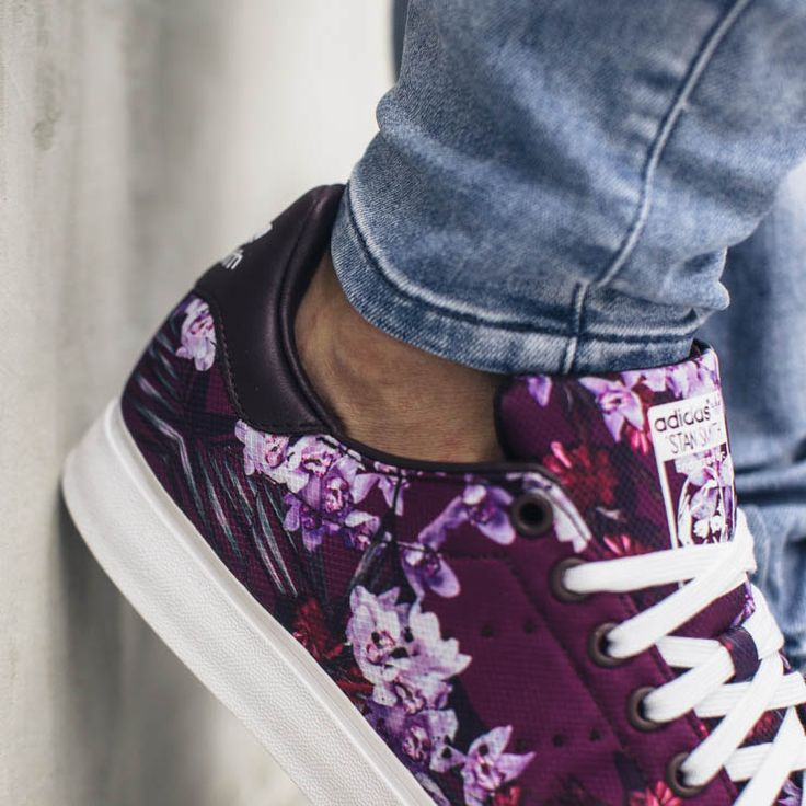 Navy, purple & floral Stan Smith Vulc. #adidas #stansmith ...