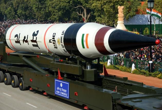 On Saturday - Another milestone in India's missile programme --- Agani - V has range more than 5000 km was successfuly carried out from Odisha cost on today --- the 17 metere long Agani - V had three stage solid fulled missile has develop by B R D O to boost countries nuclear capability can cover of China and Europe and this is the third sucessful test  --- the inter continental ballistic missile is inducted into defence service after a few canister trials ------