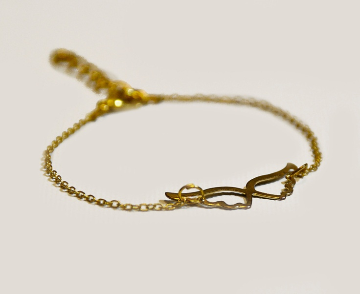 Angel wings bracelet in gold by amourose on Etsy, $9.99