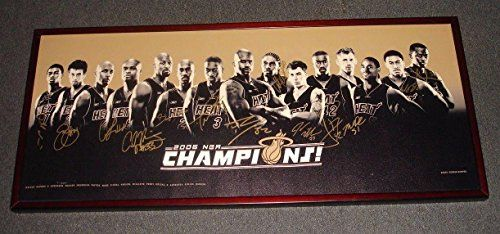 2006 Miami Heat Team Signed Canvas PhotoWorld Champions13 signaturesJSA  Autographed NBA Art * More info could be found at the image url.