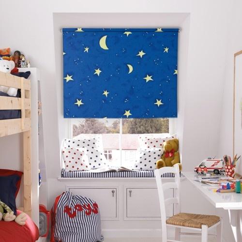under the stars roller blind web blinds boys room. Black Bedroom Furniture Sets. Home Design Ideas