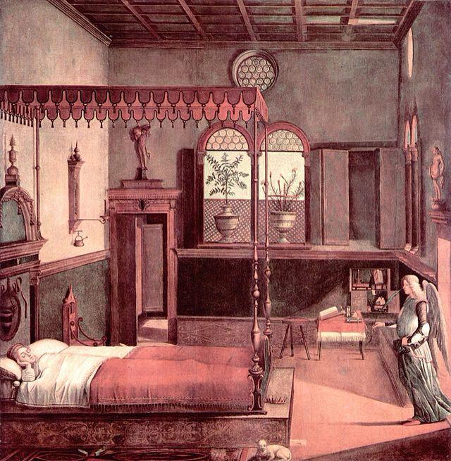 Rêve de Sainte Ursule - cycle de la vie de sainte Ursule - Carpaccio - 1490 - scuola degli Schiavoni - Venise