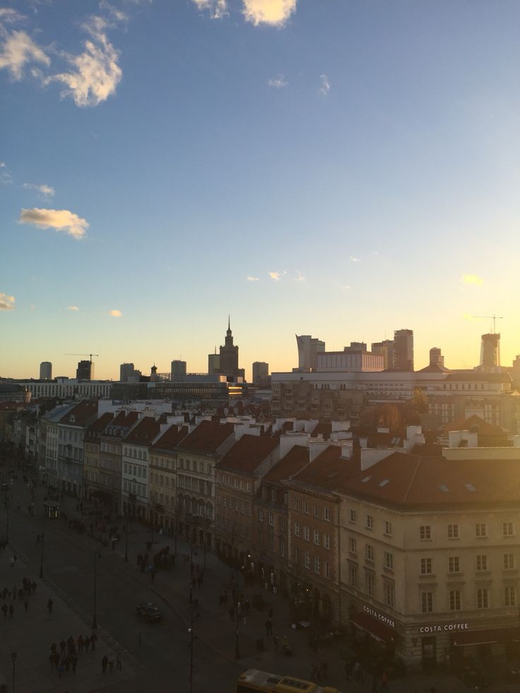 Old town Warsaw view