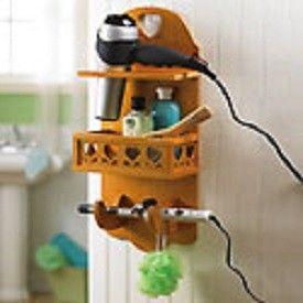 Hair Dryer Bathroom Storage Caddy
