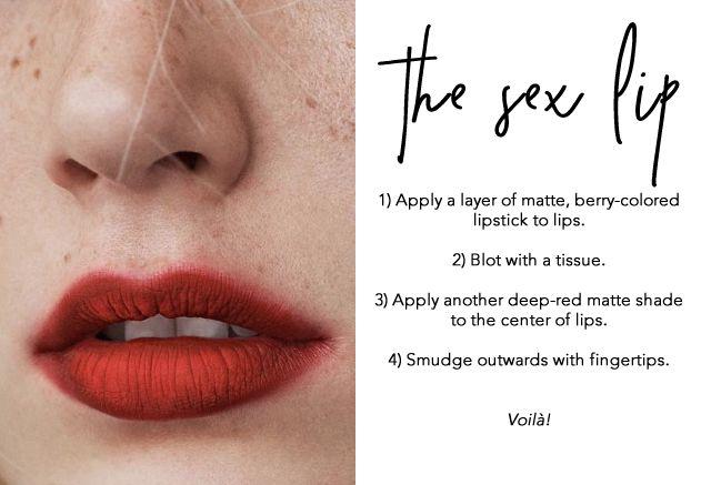 """The Sex Lip"" by MyLittleParis (Mac Ruby Red & Mac Russian Red)"
