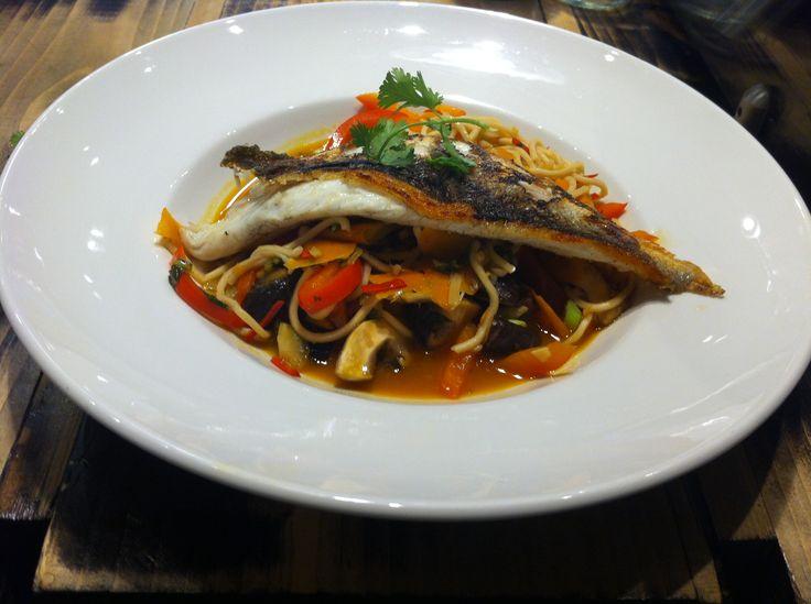 Asian sea bass at nick nairn cook school