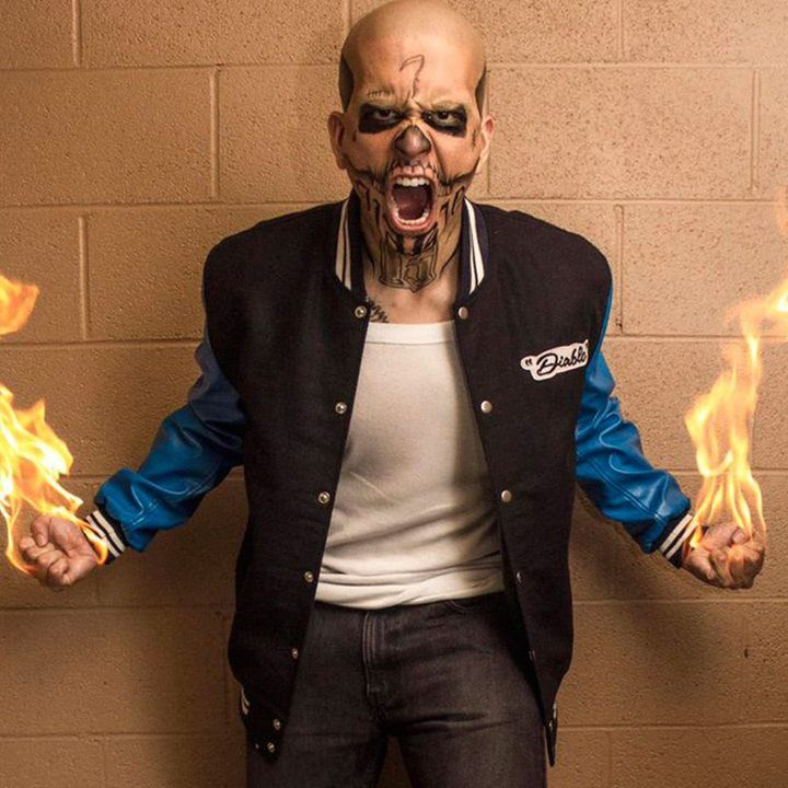 """Jay Hernandez El Diablo Suicide Squad Jacket https://www.amazon.com/dp/B06XCGS86W/ From the Superhit Movie """"Suicide Squad"""" Our Store Brings Boys fashion wear, this is Jay Hernandez El Diablo Blue Letterman Jacket. El Diablo Stunning Outfit is made with Fleece Material. If you want this Attractive Outfit Just Click on and Place your Order. #dc#harleyquinn#suicidesquad#suicidesquad #margotrobbie #harleenquinzel #jaredleto #joker #mrj #puddin #katana #deadshot #eldiablo #robbie #leto #dc…"""
