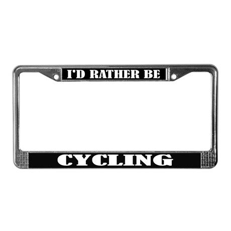 Cycling License Frame on CafePress.com