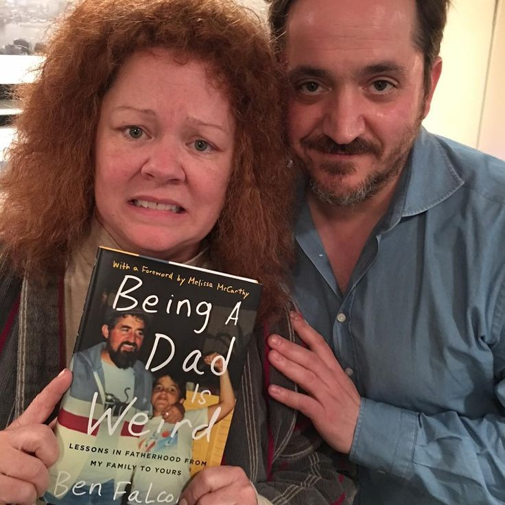 "Melissa McCarthy & Ben Falcone (@melissamccarthy) on Instagram: ""Nothing celebrates a new perm like a good book. @benjyfalcone is chatting with @brookeshields and…"""