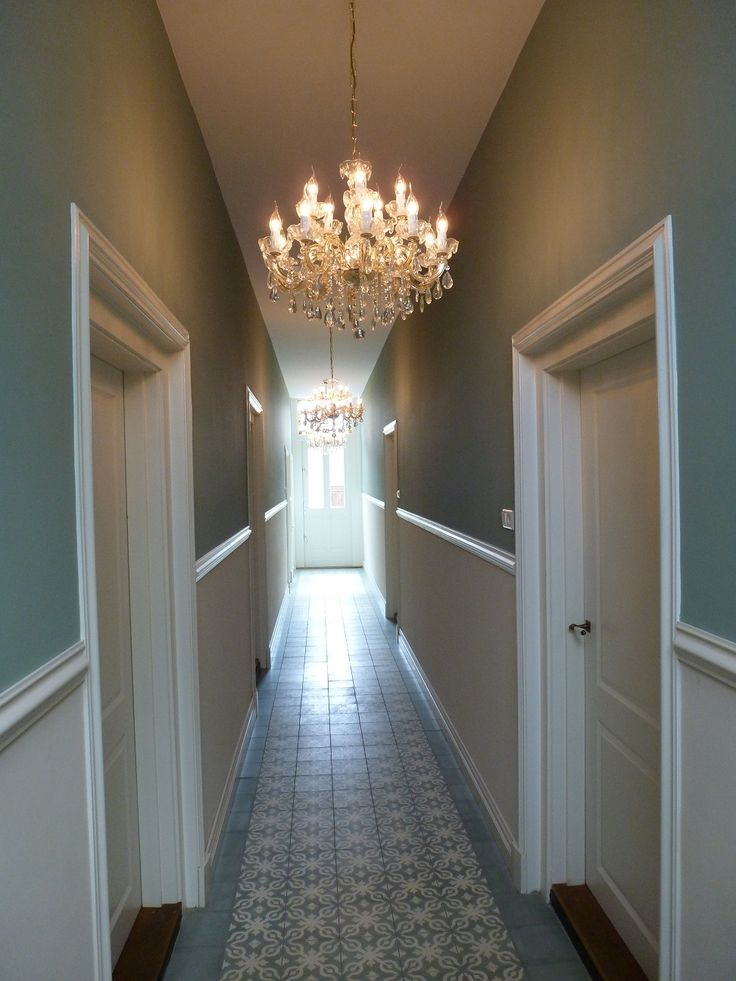 Great hallway with cement tiles!