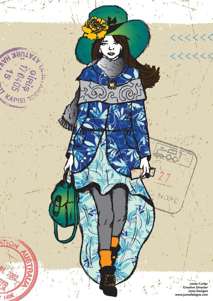 Fashion illustration for Sheila magazine by Jamz Designz www.jamzdesignz.com