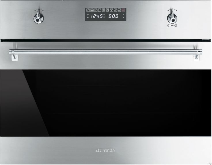Smeg su45mcx1 24 inch built in speed oven with 1000w for Built in microwave oven 24 inch