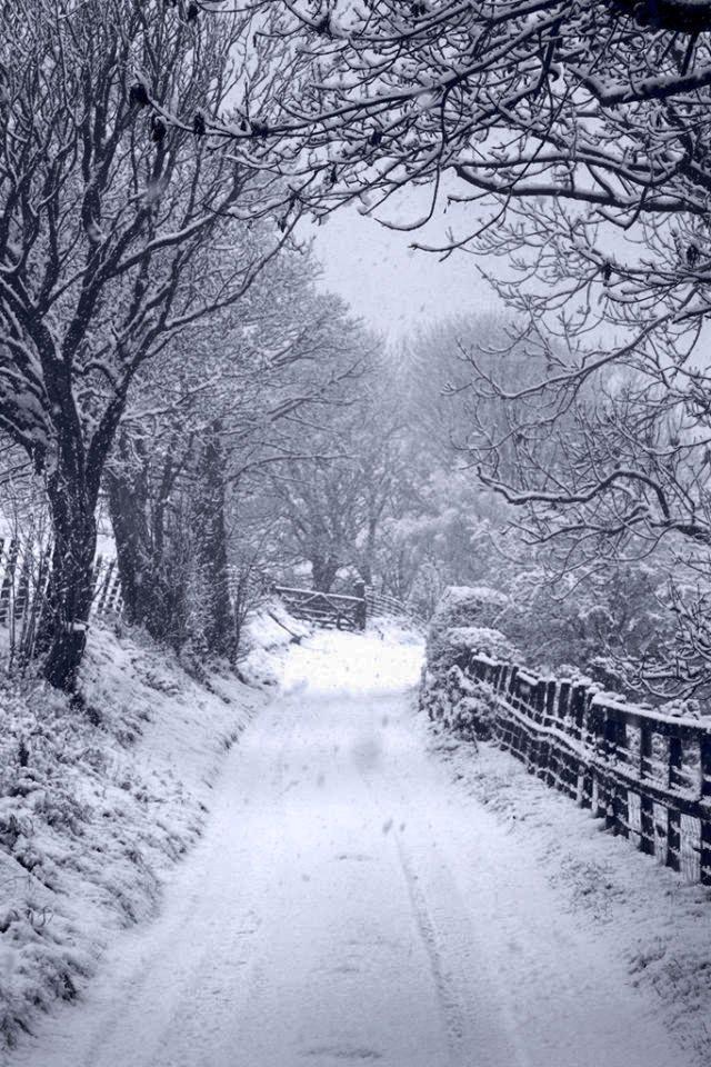 Beautiful Llangollen, Wales, after fresh snowfall.