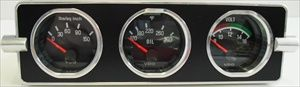 This fantastic custom gauge panel makes mounting (3) 2 1/16' VDO gauges into your 1958-1967 VW Beetle radio hole without any modifications to your dash! All gauges mount behind the panel and are held in place with a metal backing plate.