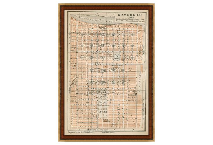 Map Antiquities - Savannah Map