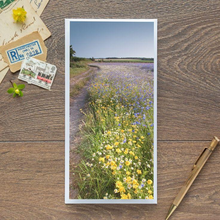 Single Blank Card by landscape photographer Nina K Claridge – Wild Flower Farming