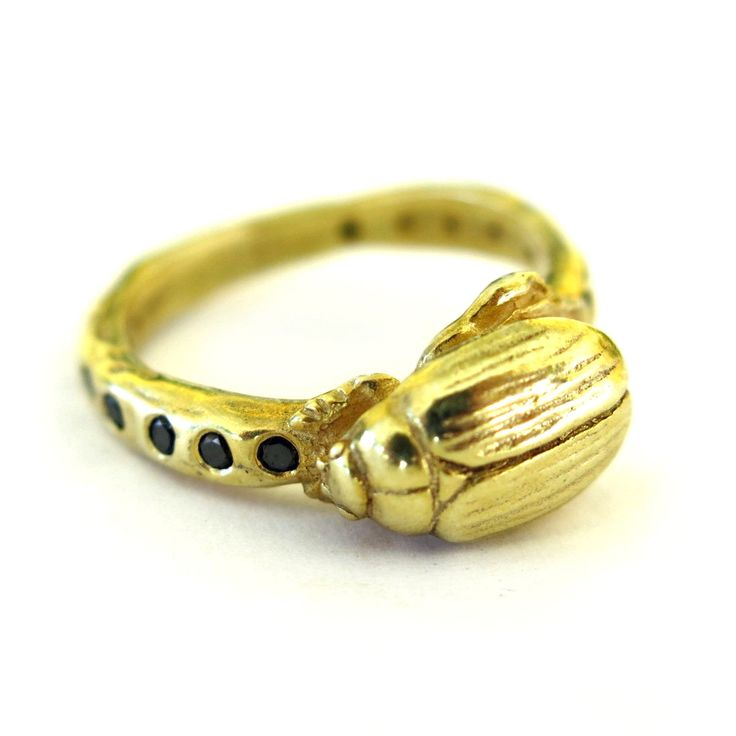 Gold Beetle Eternity Ring