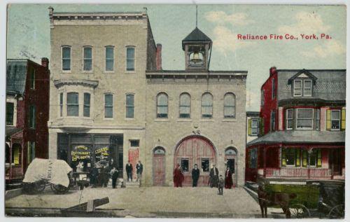 York-PA-Reliance-FIRE-Co-FISHELS-Restaurant-Pennsylvania-Vintage-Postcard