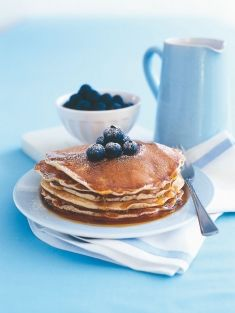 blueberry pancakes with maple syrup . . . one of my all-time favorites.
