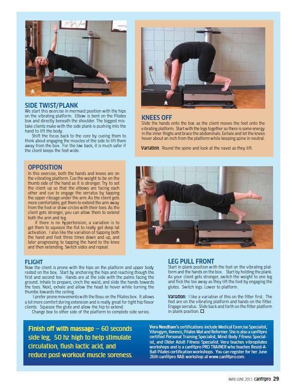 Part 1 - canfitpro article whole body vibration pilates
