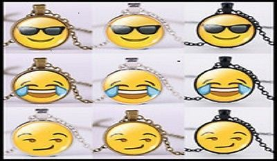 Mixed Lots 64511: (100) Emoji Necklaces Silver, Bronze, Black Chains Only $1.70Each BUY IT NOW ONLY: $170.0