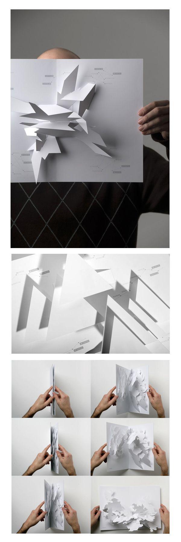 100 créations uniques à découvrir sur l'art du papier ! - graphisme pop-up Johann Volkmer - designer