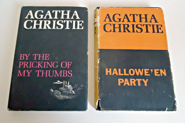 2 Vintage Agatha Christie Hardcover Books Halloween Party  By the Pricking of My Thumbs 1960's by TreasureCoveAlly on Etsy