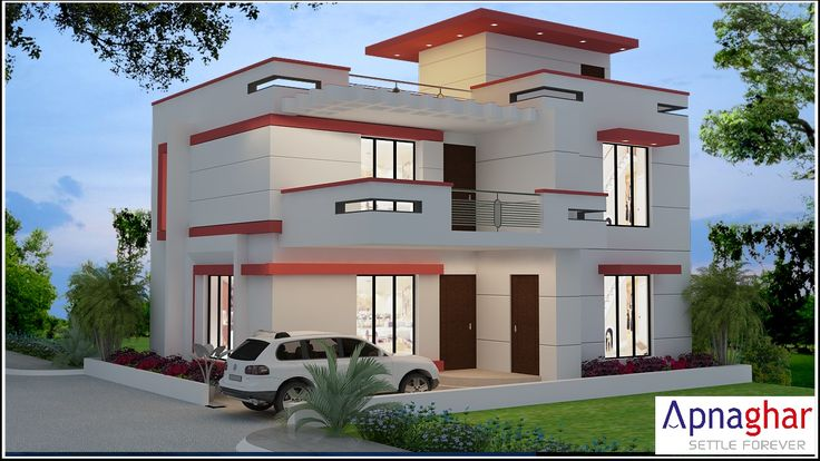 3D View Of A Beautiful House Designed By Apnaghar. For More Designs Visit    Www