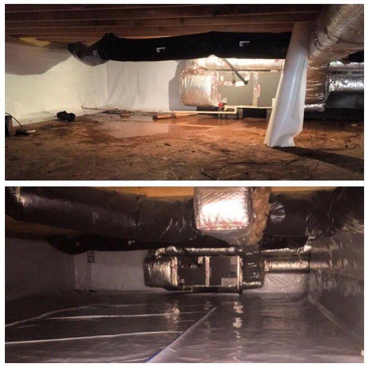 Crawl Space Encapsulation (Before & After) BeforeAndAfter