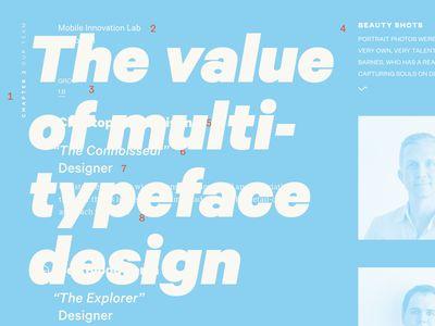 The value of multi typeface design
