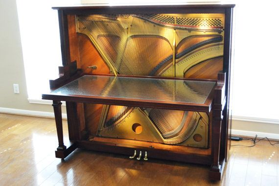 Unique desk made from an old piano. by Greenwoodbay on Etsy, $4950.00