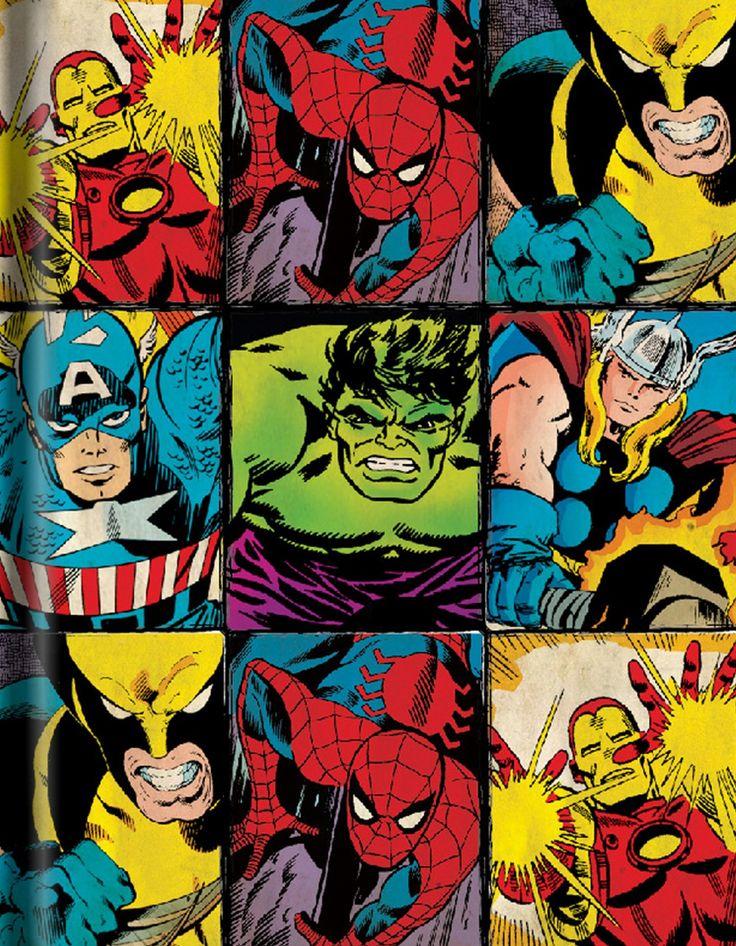 Vintage marvel wallpaper movies books en 2019 - Marvel retro wallpaper ...