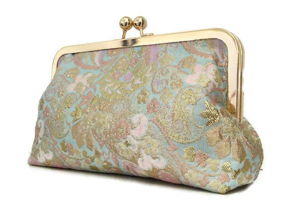 BRIDAL CLUTCH PURSE Beautiful brocade fabric by cutiegirlie, $40.00