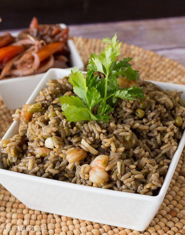 Djon Djon, Haitian Black Mushroom Rice