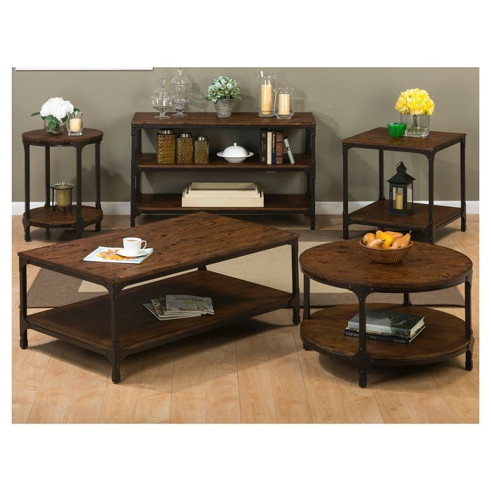 Urban Nature Cocktail Table Rustic Brown Jofran Inc Target Coffee Table Coffee Table With Storage Coffee Table Setting Jofran living room cocktail table