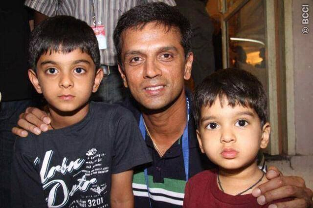 Rahul Dravid With his Cute Sons