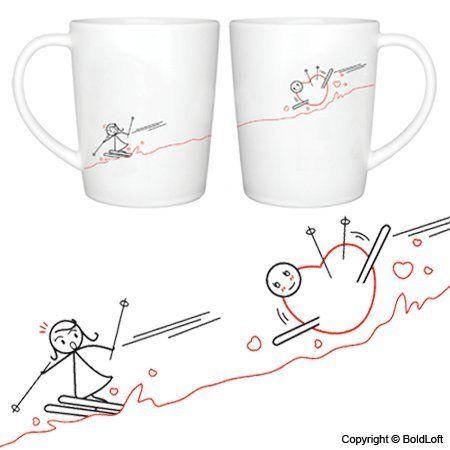 """""""Fallen for You"""" Couple Coffee Mugs"""