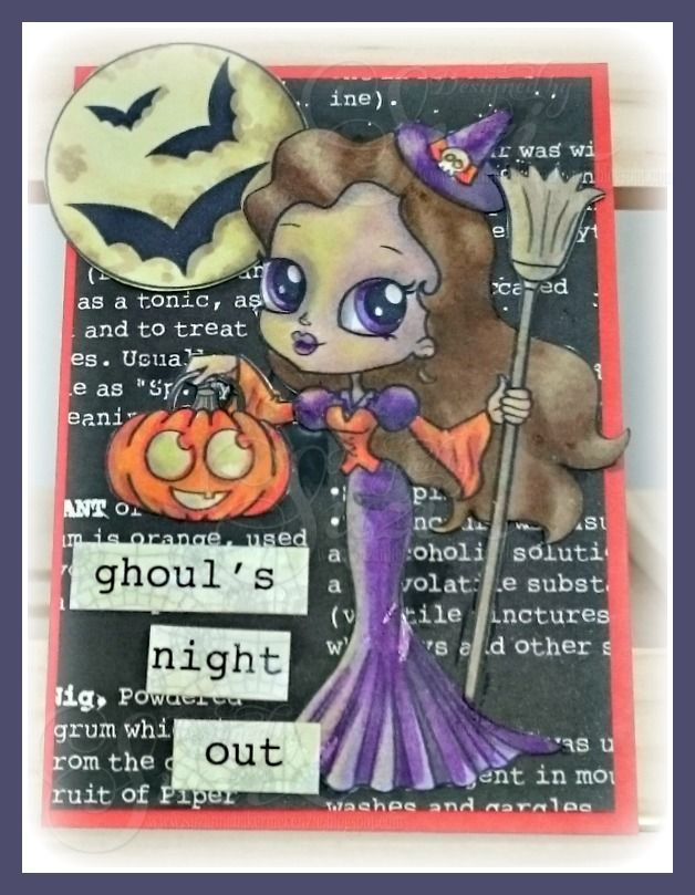 Day 15 - 31 Days of Halloween meets Wicked Wednesday ATC Challenge and Alicia Bel